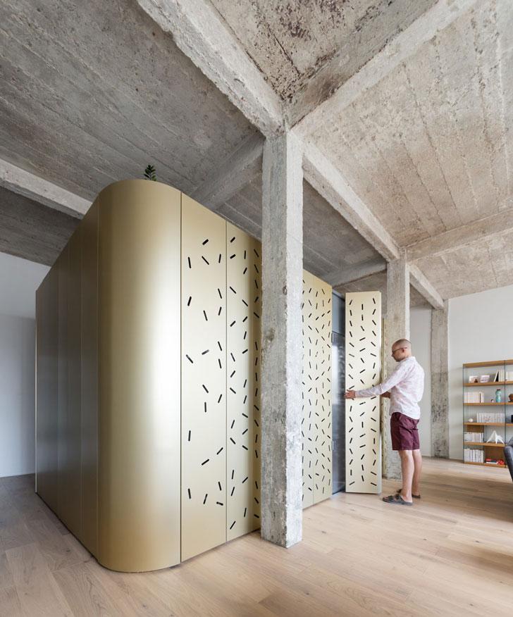 Металлические стены для лофта