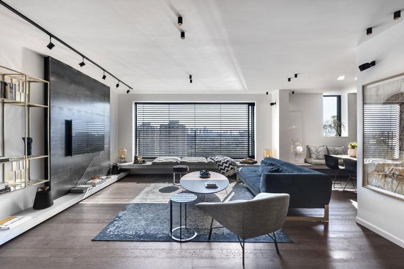 Стильная квартира с 3d стенами